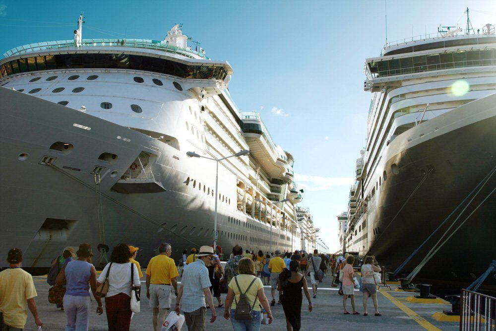 Cruise Ships at St. Marteen Port